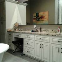 White Custom Bathroom Cabinets