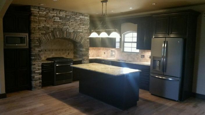 Dark Chocolate Stain Kitchen Cabinets Gallery