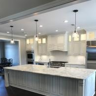 white glazed kitchen