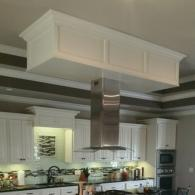 White Vent Hood over Island